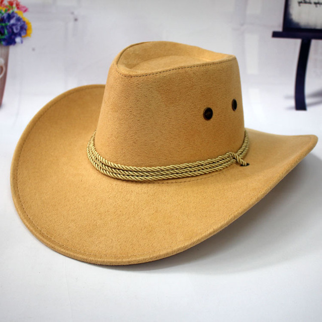 26c6b3e4692 Fashion Western Cowboy Hats Wholesale Womens Mens Tourist Caps for Travel  leather hat Outdoor Performance Hat MHA038