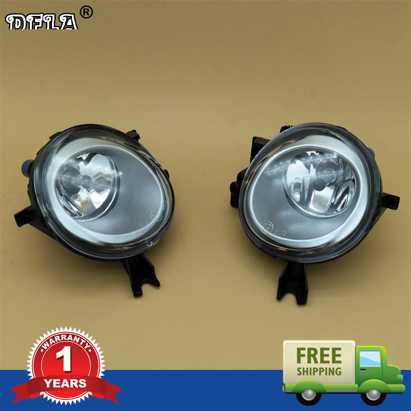 Car Light For VW Touareg 2003 2004 2005 2006 2007 2008 2009 2010 Car-styling Front Halogen Car Fog Light Fog Lamp front bumper fog lamp grille led convex lens fog light angel eyes for vw polo 2001 2002 2003 2004 2005 drl car accessory p364
