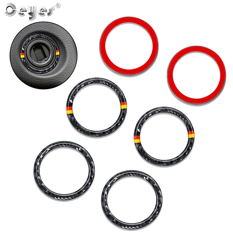 Ceyes Car Engine Start Ignition Ring Stop Carbon Fiber Styling Fit For <font><b>Mercedes</b></font> <font><b>Benz</b></font> C E Class <font><b>W213</b></font> GLC W205 Sticker <font><b>Accessories</b></font> image