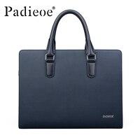 Padieoe брендовая сумка мужская сумка на плечо кожаные портфели Сумка тоут деловая мужская сумка мессенджер Повседневная дорожная сумка беспл