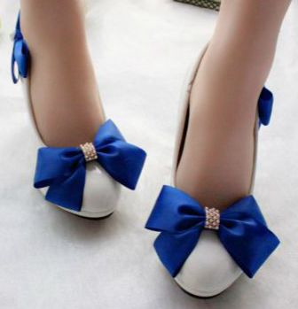 Popular Blue Bow Shoes-Buy Cheap Blue Bow Shoes lots from China ...