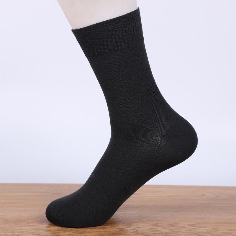 Весенние и летние хлопковые мужские деловые Носки сплошной цвет носки без пятки из бамбукового волокна дышащая мужская Носки JX54255