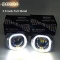 3.0 ''WST hid lente do projetor com angel eyes quadrado-s max mortalhas quadrados h1 h4 h7 xenon Bulb Car Styling livre grátis