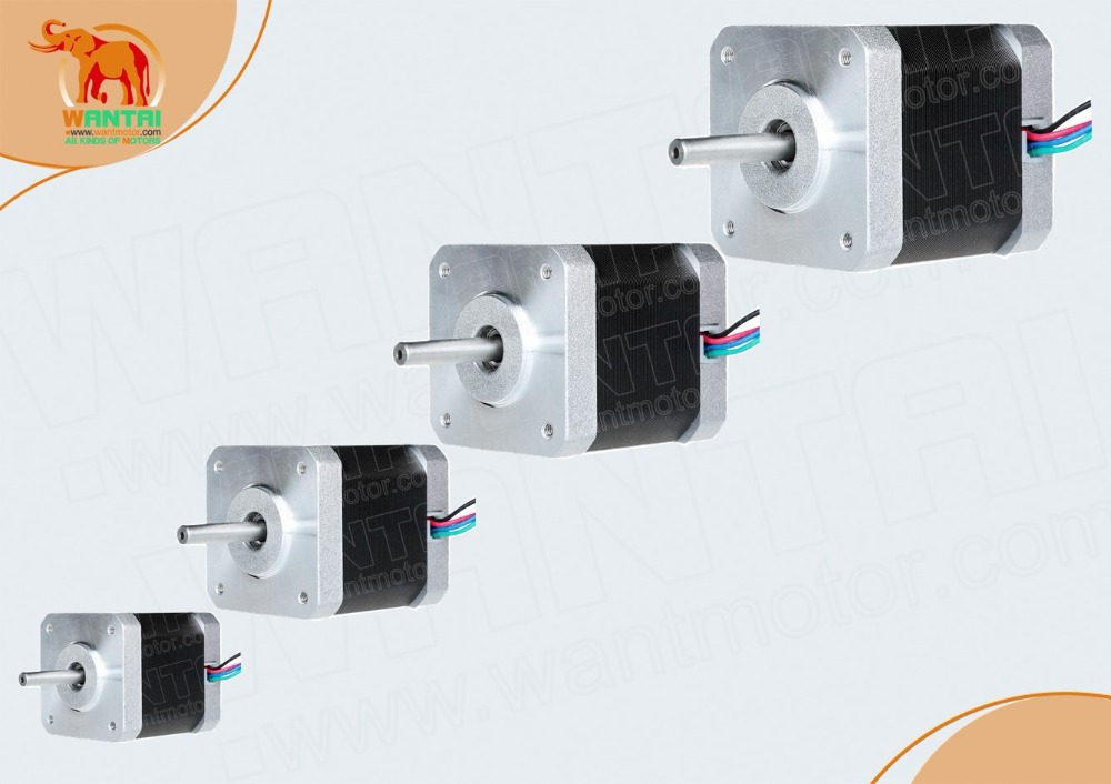 Free Ship!4pcs 64oz-in 4500g-cm 48mm 1.2A 4Leads Nema17  Stepper Motor 42BYGHW804 WANTAI for 3D printer CE&ISO Certified.miniFree Ship!4pcs 64oz-in 4500g-cm 48mm 1.2A 4Leads Nema17  Stepper Motor 42BYGHW804 WANTAI for 3D printer CE&ISO Certified.mini