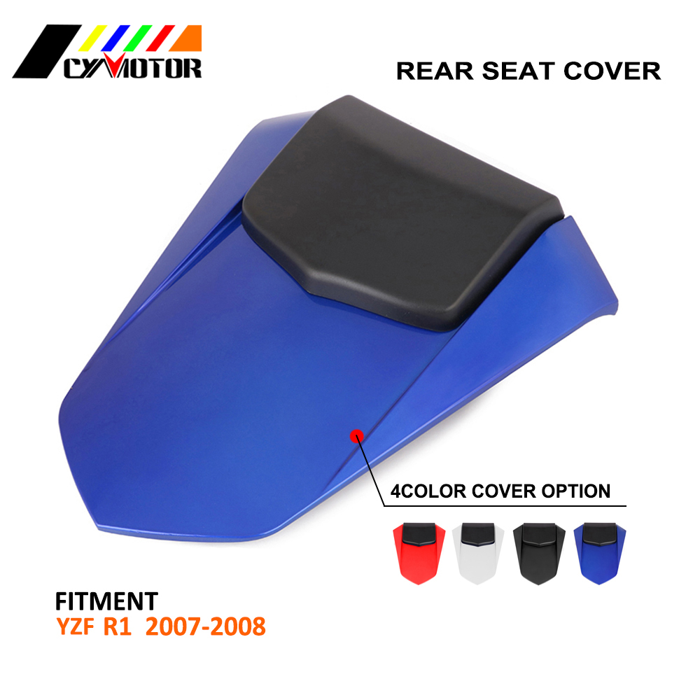 Motorcycle ABS Plastic Rear Seat Protective Cover Cap For YAMAHA YZFR1 YZR-R1 YZF R1 2007 2008 07 08 hot sales for yamaha r1 fairings yzfr1 2007 2008 yzf r1 yzf r1 yzf1000 r1 07 08 red black abs fairings injection molding