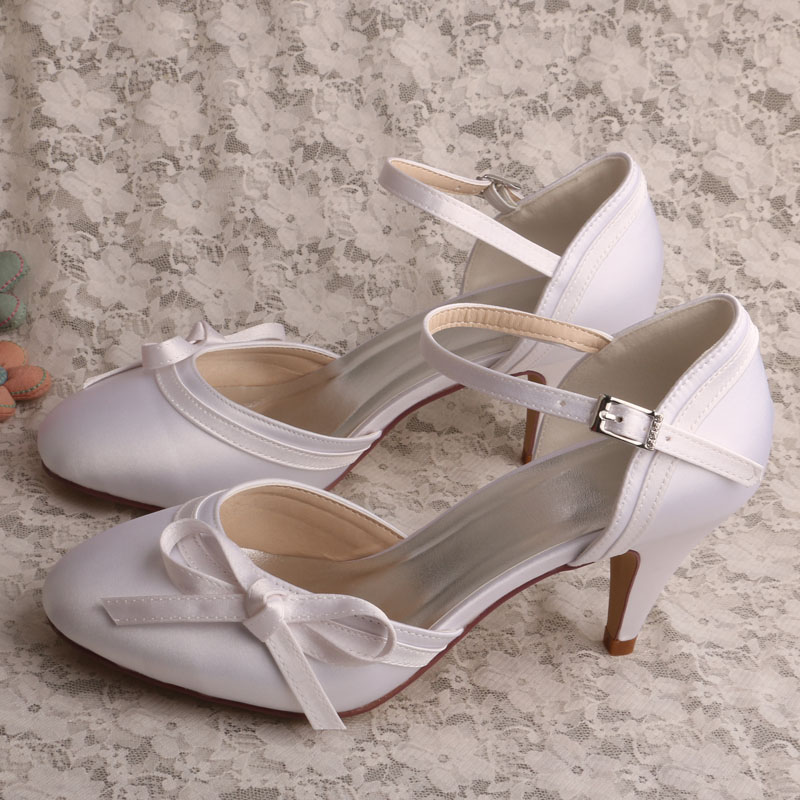 wedopus mary janes prom womens shoes wedding shoes bridal cone heels pumps with bowschina