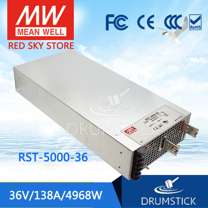 цена на Hot sale MEAN WELL RST-5000-36 36V 138A meanwell RST-5000 36V 4968W Single Output Power Supply