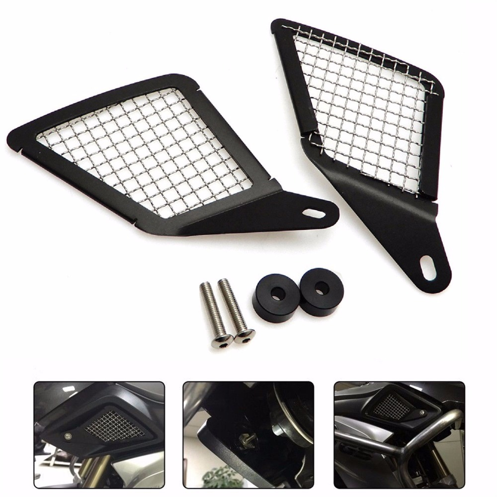 CNC Air Intake Grill Guards Pair Cover For BMW R1200GS R1200 GS LC ADV 2013-2016 epman universal 3 aluminium air filter turbo intake intercooler piping cold pipe ep af1022 af