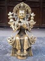 China's Tibet Buddhism bronze goddess guanyin bodhisattva figure of Buddha