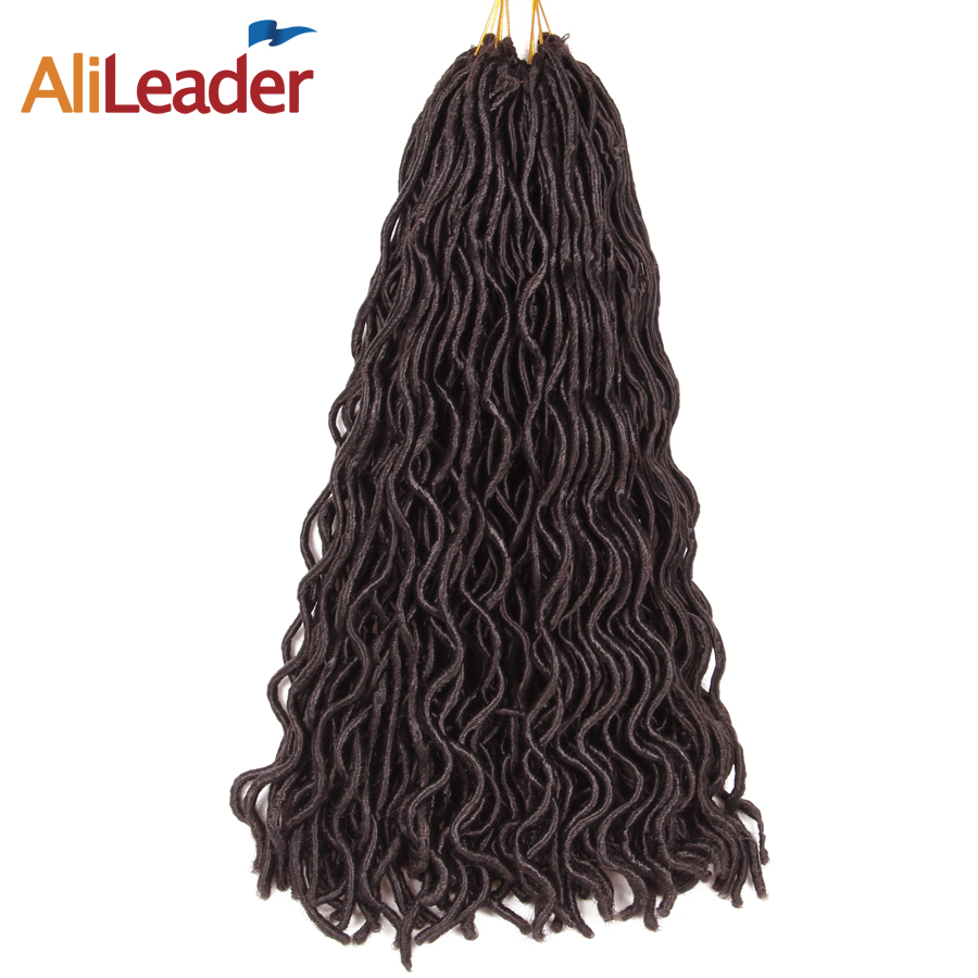 AliLeader Faux Locs Curly Crochet Hair Short 10 Inch Crotchet Braids Kanekalon Synthetic Hair Extensions 18 Inch 24 Roots/Pcs