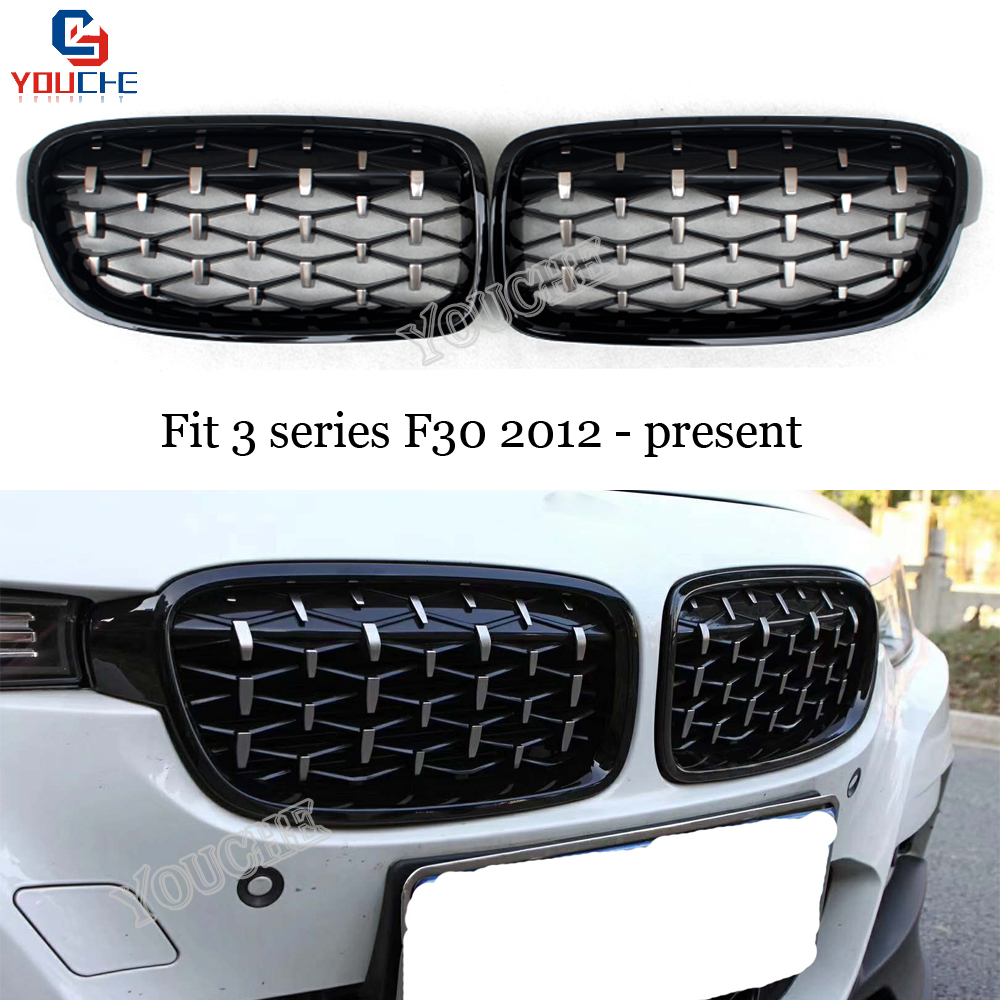 Diamond Black For BMW F30 F31 Front Grille Grill 328i 335i 318d 320d //////M