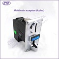 Free shipping multi coin acceptor programable for 6 different values coin selector for vending machine