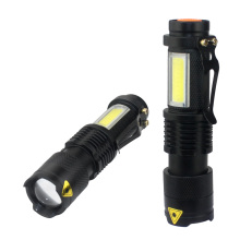 3800LM XML-Q5+COB Portable Ultra Bright Handheld LED Flashlight with Adjustable Focus ZOOM Mini Torch Use AA 14500 Battery sitemap 19 xml