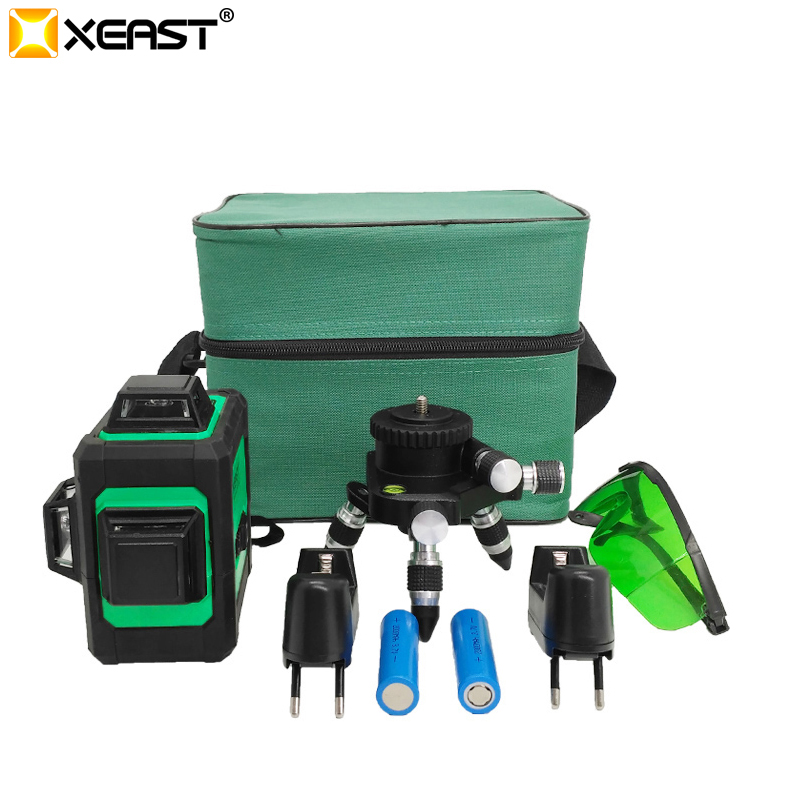 XEAST Low price 360 Rotary <font><b>3d</b></font> <font><b>12</b></font> <font><b>lines</b></font> Green Beam <font><b>Laser</b></font> <font><b>Level</b></font> Machine wall <font><b>levels</b></font> cross <font><b>line</b></font> <font><b>laser</b></font> <font><b>level</b></font> meter image