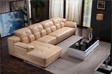 modern style  living room Genuine leather sofa a1297 popular modern black nappa genuine leather sofa set for living room