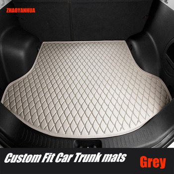 ZHAOYANHUA Car trunk mats special for Audi A4 S4 B5 B6 B7 B8 allraod Avant 5D car-styling carpet floor liners (1994-present)  image