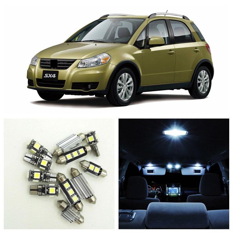 Suzuki Splash White 4-LED Xenon Bright ICE Side Light Beam Bulbs Pair Upgrade