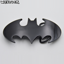 цена на WesBuck Brand New Style 3D Super Hero Batman Belt Buckle Zinc Alloy Cowboy Belt Head