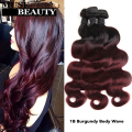 Fashion 2 Tone Ombre Virgin Hair T1B/Burgundy Body Wave Brazilian Hair 3pcs Ombre Hair Queen Hair Products Brazilian Body Wave