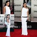 Меган фокс на трансформатор 2 премьера белый одно плечо пола длинное платье знаменитости CD024