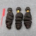 Brazilian Virgin Hair Loose Wave 3 Bundles Brazilian Hair Weave Bundles Human Hair Extension Loose Wave Grade 8A Slove Hair