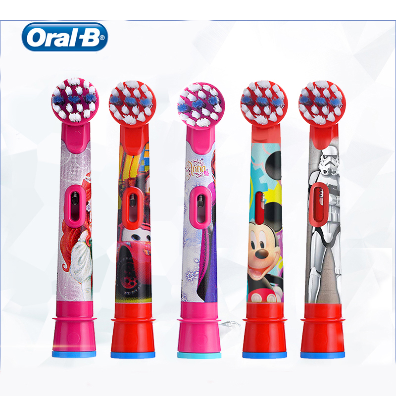 Oral B Kids Replacement Brush Head Soft Bristle EB10 Special Design Toothbrush Head For Kids 2 Pieces image