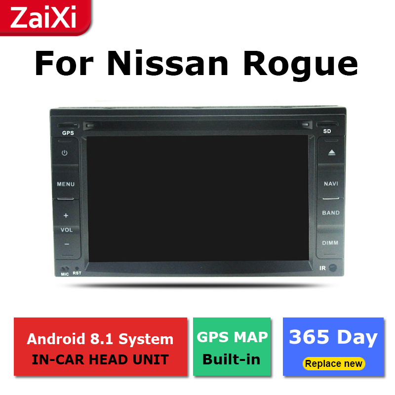 ZaiXi 2Din For Nissan Rogue Rogue S 2008 2015 Car Android Radio Multimedia Player GPS Navigation IPS Screen HiFi WiFi BT in Car Multimedia Player from Automobiles Motorcycles