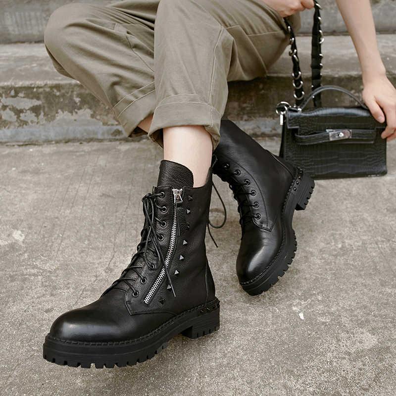 Prova Perfetto; Новинка; высококачественные женские ботильоны; женские ботинки ручной работы из натуральной кожи; обувь на шнуровке с круглым носком; женская обувь