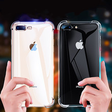 Original Clear Shockproof Silicone TPU Transparent Phone Case Fundas Coque For iphone 7 7Plus 6 S 6S 6Plus 8 8PLUS X 5S Xs