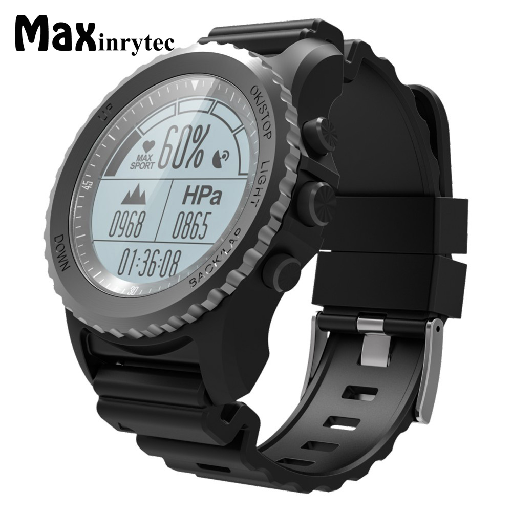 Maxinrytec S68 GPS Smart Watch IP68 Waterproof Smartwatch Heart Rate Monitor Temperature Sport Men Swimming Running Sport Watch
