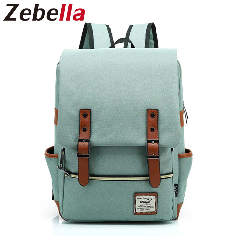 Zebella Fashionable Trendy Backpack Female Students Laptop Backpack Women Rucksack Casual School Bag For Teenage Bolsa Mochilas