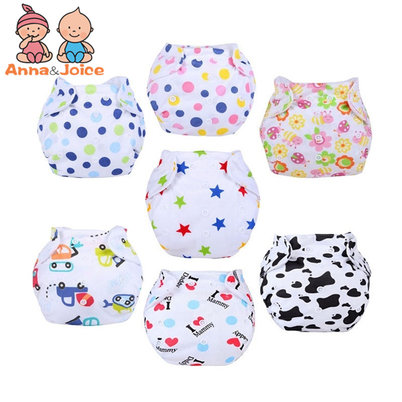 купить 10pcs/lot mix New Baby Diapers/Children Cloth Diaper/Reusable Nappies/Adjustable Diaper Cover/Washable +Diapers suit 8-15kg по цене 1265.43 рублей