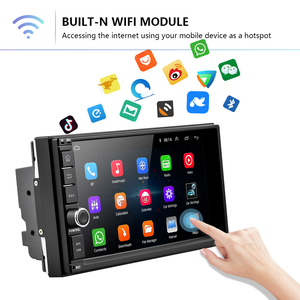 Image 4 - Podofo אנדרואיד רכב נגן מולטימדיה 2 דין 7 מגע מסך רכב רדיו אודיו Bluetooth MP5 נגן GPS מראה קישור WIFI FM רדיו