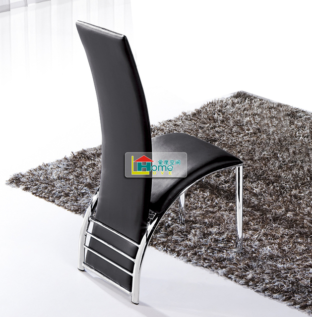 Fashion a high-back contracted and contemporary black and white chairs. Stool C80 leather chair
