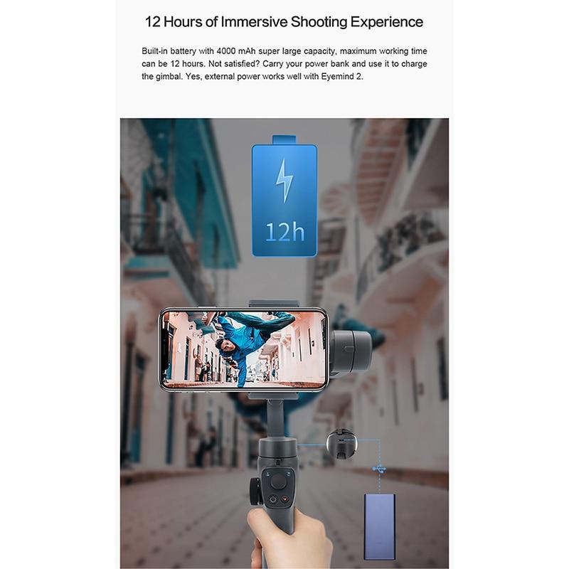 ZHIYUN Liscia Q2 Handheld Gimbal Portatile Pocket Size 3 Assi Smartphone per il iPhone 11 Pro Max XS X Samsung s10 S9 PK DJI Osmo 3 - 5