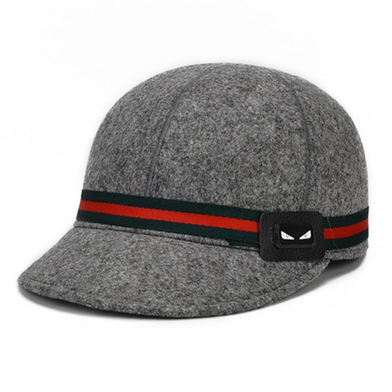Women S Warm Hat Autumn And Winter Retro Baseball Caps Woolen Hats