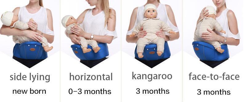 Multifunctional Ergonomic Baby Carrier Sling Backpack 9 In 1 Newborn Infant Carrying Belt For 3-36 Months 15