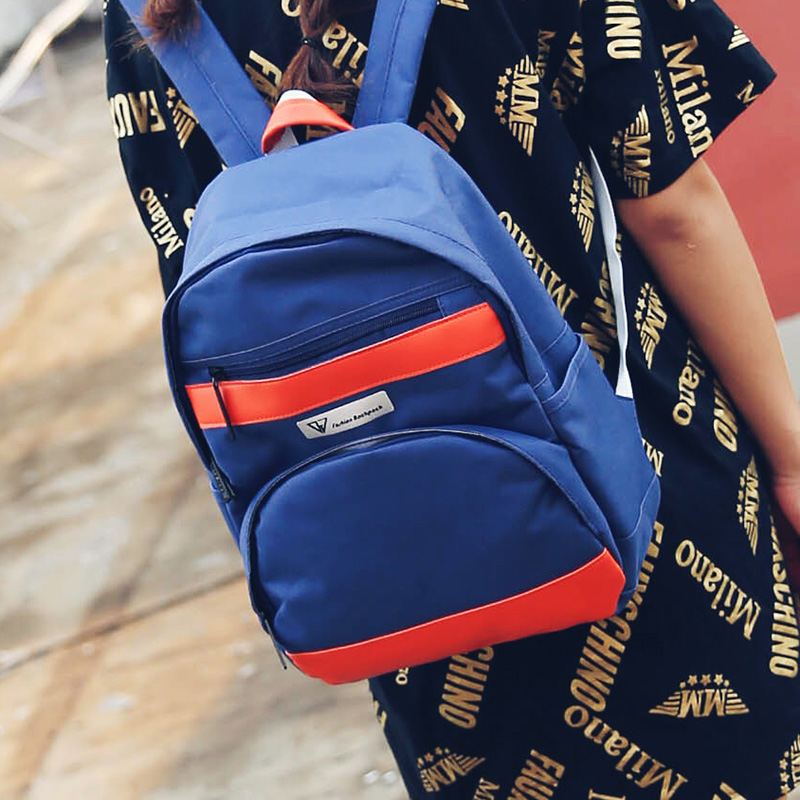 New Winter Style Color Matching Backpack Design Female Travel Bag Canvas Materials Series Japan and Korean