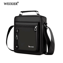 WEIXIER New 2019 Hand Bags Men Waterproof Nylon Business Cro