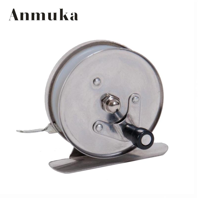 Anmuka 1pcs ice fishing reel stainless steel winter for Reel steel fishing
