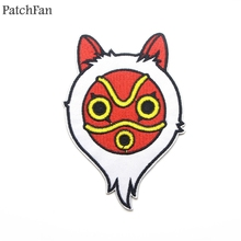 Patchfan Princess Mononoke cartoon Applique patches stickers pour sewing shirt clothing para jacket badges iron on t-shirt A1565