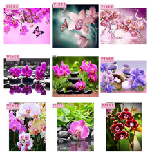 rhinestones embroidery,diamond painting flowers,orchid diamond embroidery, orchid,embroidery