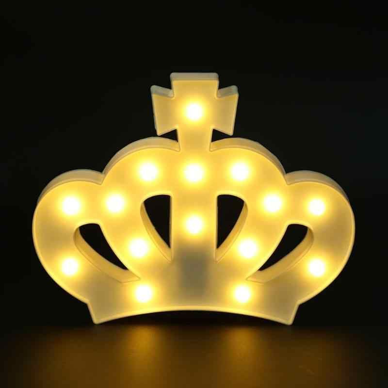 Indoor Crown LED Night Light Waterproof Warm White light for Childern' Table Desk Bedside Bedroom Night Lamp