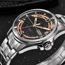 Men's Top luxury brand full stainless steel Quartz Watch