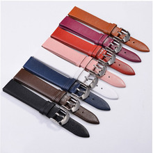 1pcs 12mm 14MM 16MM 18mm 20mm 22mm soft genuine leather grain (cow) watch band watch strap men and women belts цены