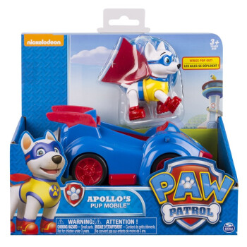 Genuine Paw Patrol Toy Car Apollo Ryder Canine Patrulla Canina Action Figures Anime Pow Patrol Model PVC Toys Of children Gift in Action Toy Figures from Toys Hobbies