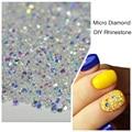 1000 Шт./упак. 3D Nail Art Советы Micro Diamond Crystal Clear Номера Исправление Flatback Ногтей Стразами Для Ногтей DIY Украшения