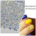 1000 Unids/pack 3D Nail Art Puntas de Diamante Micro Crystal Clear Hotfix Flatback Nails Rhinestones Para Uñas BRICOLAJE Decoración