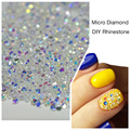 1000PCS/Pack 3D Nail Art Tips Micro Diamond Crystal Clear Non Hotfix Flatback Nails Rhinestones For DIY Nails Decoration