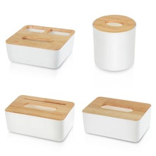Hot Wood Cover Tissue Box New Brand Modern Wooden Household Storage Car Oak Napkin Holder